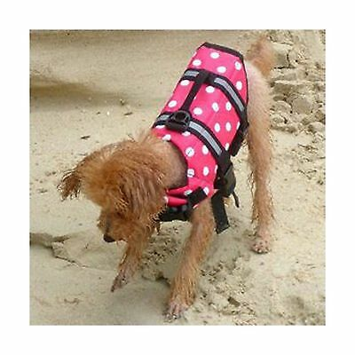 New Pet Dog Floating Boating Life Jacket Buoyancy Aid Swimming 2 Colors 5 Sizes