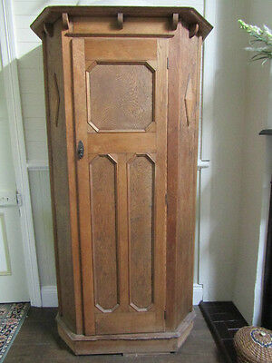 ~Antique~Old Timber Corner Cupboard~Shelves~Federation~Unusual~