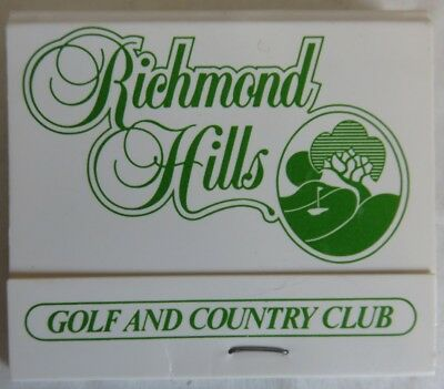Vintage Richmond Hills Golf And Countrty Club Unused Matchbook        (Inv14367)
