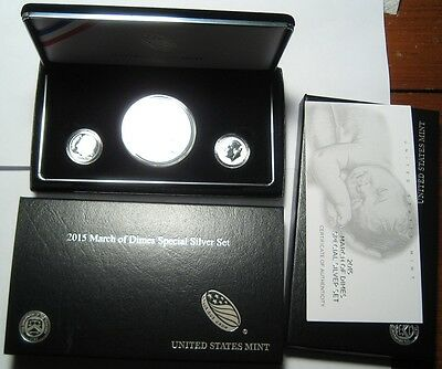 = 2015 March of Dimes Special Silver Set 3 Coins, FREE Shipping, SPOT on Dime