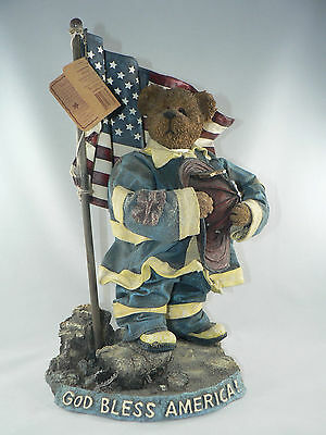 Boyds Bears Our American Hero Crumpletons Commemorative 911 Fireman Style 73110