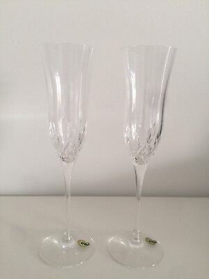Waterford Crystal Lismore Essence Flute Pair (signed by Jim O'Leary 2011)