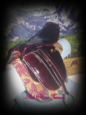 CM Breyer/Peterstone Mahogany Brown Leather English Dressage Saddle
