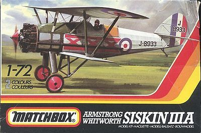Matchbox PK-25 1/72 Siskin IIIA Armstrong Withworth WWi airplane