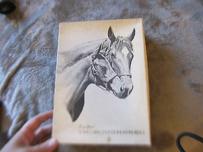 c1950s? Montag's Thoroughbred stationery in original box, 17 sheets horses VG