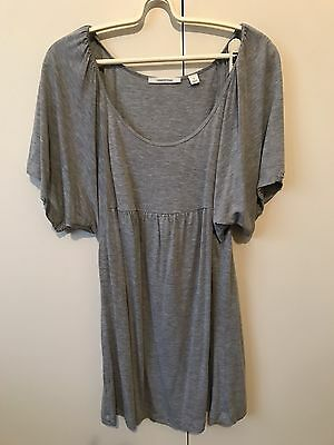 Country Road Women's Knit Blouse Top Size S 8-10 Grey Batwing Sleeve