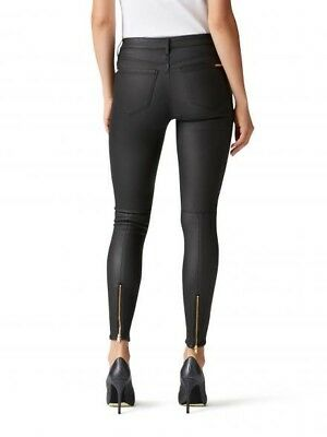 Maternity Jeans - Just Jeans Black Coated Denim