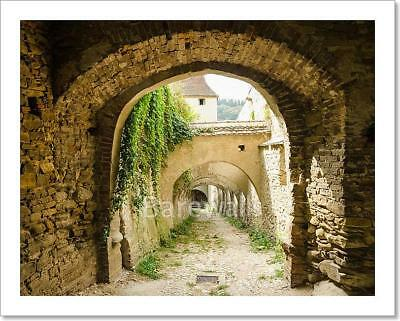 Corridor To Castle Dungeon Art Print Home Decor Wall Art Poster - C