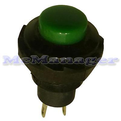 2P/2  Pole Car/Van Dashboard SPST Momentary Push Button Switch off-(on) Green
