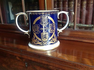 Spode Limited Edition Eu Loving Cup 1973 - Great Britain's Entry Into Eu   (514)