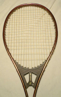 Italian Lotto Aluminium Odd Throat Shape Used Vintage Tennis Racquet