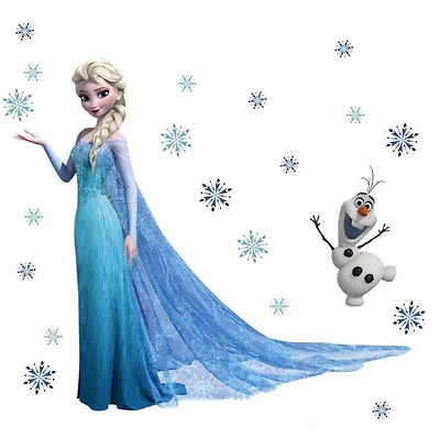 Vinilo  Elsa Olaf Snowflaks  Wall Stickers for kids rooms frozzen