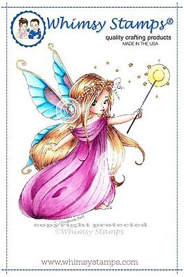 Whimsy Stamps - Cling Mounted Rubber Stamp - Shimmery Sprinkles Faery
