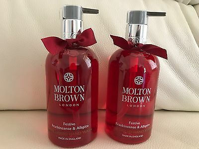 Molton Brown 2 x 300ml Frankincense & Allspice Hand Wash BRAND NEW