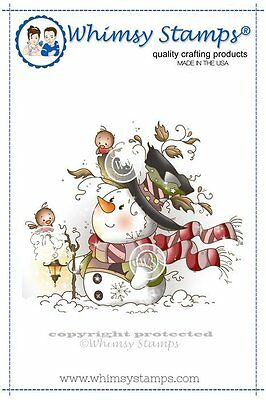 Whimsy Stamps - Cling Mounted Rubber Stamp - Mr Frosty