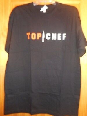 Bravo Black Unisex T-Shirt TOP CHEF New XL Made in the USA