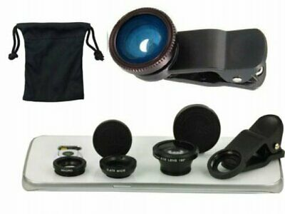 Universal Clip On Fish Eye Wide Angle Macro Camera Lens For Samsung Galaxy Phone