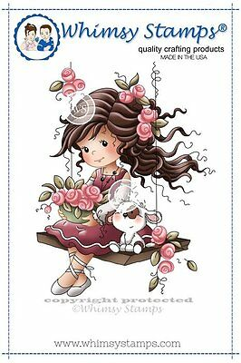 Whimsy Stamps - Cling Mounted Rubber Stamp - Emily
