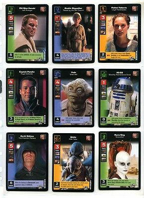 Young Jedi CCG Enhanced Battle of Naboo - Full Set of 12 Prem Cards #P8 to #P19