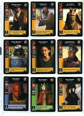 Star Wars Young Jedi CCG Menace of Darth Maul - Complete Set of Cards #1 to #140