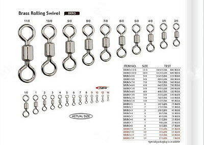 Game Fishing Rolling Fishing Swivels Size 3 / 100Lb  *springvale Bait & Tackle*