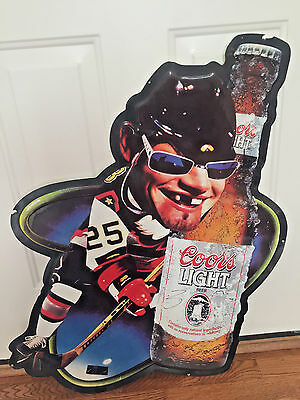 Coors Light Tin Sign Hockey #25 Man Cave Garage