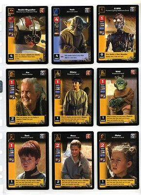 Young Jedi CCG Boonta Eve Podrace - Complete Set of Cards - #1 to #60 + 8 Others