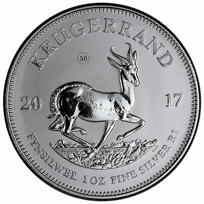 2017 South African Silver Krugerrand PU | In Air-Tite Capsule + COA