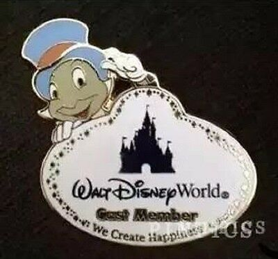 Disney Cast Member Exclusive Name Tag Jiminy Cricket We Create Happiness Pin