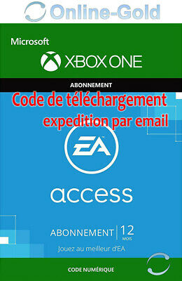 EA Access Xbox One 12 Mois Abonnement Clé - ORIGIN Membership Carte - [EU/FR]