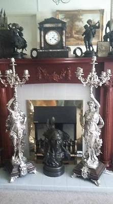 3 ft French Silver on Bronze Gregoire Candelabras Liberty New York