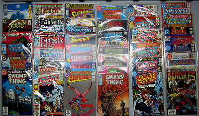 Huge Comic Lot: 40 Comics- DC Marvel:Hercules Fantastic Four Superman Arak Swamp