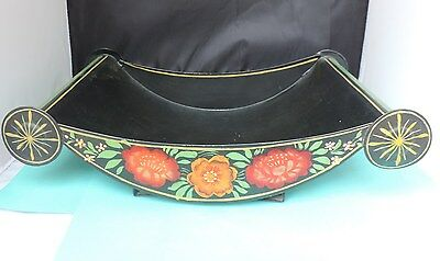 """Tole Hand-painted  vintage different style """"tray"""""""