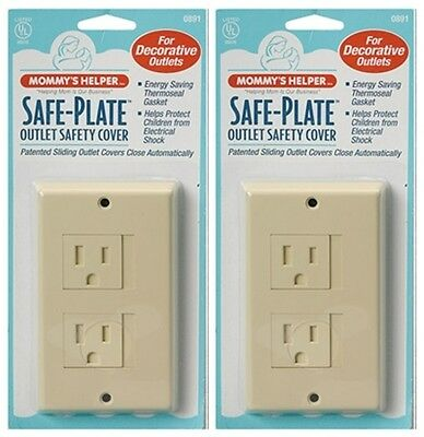Mommy's Helper Safe Plate Outlet Cover - Decora Style Outlets - Almond - 2 Count
