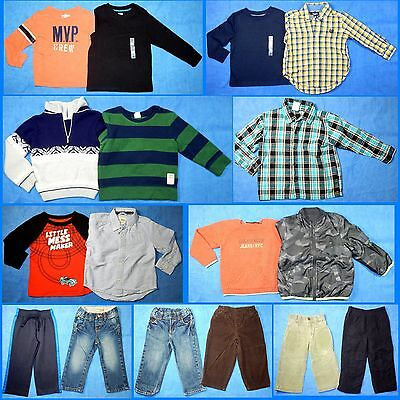 17 Piece Lot of Nice Clean Boys Size 2t 2 Fall Winter Everyday Clothes fw62