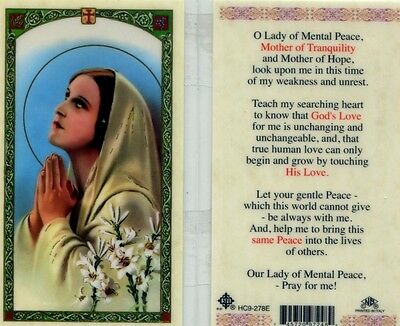 O Lady of Mental Peace Card Mother of Tranquility and Mother of Hope HC9-278E
