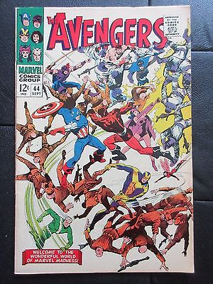 Marvel AVENGERS 44 (1967) DEATH OF THE RED GUARDIAN! BLACK WIDOW ORIGIN! VF-