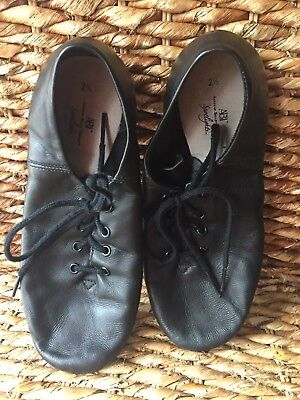 ABT Black Leather Jazz Dance Shoes Size 2.5