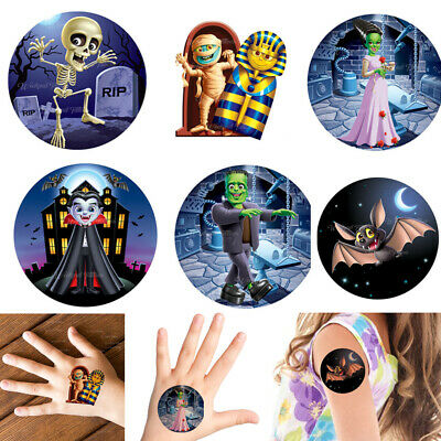 Ghosts Skeleton Egyptian Kids Halloween  Temporary Fake Tattoo Transfer Sticker