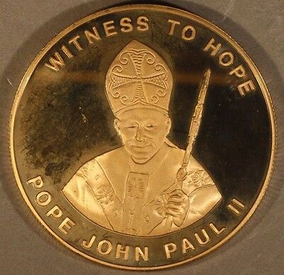 2003 Malawi 10 Kwacha, Pope John Paul II Proof Bronze  ** FREE U.S SHIPPING **