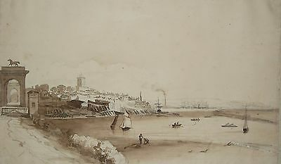 early 19th century view of Shoreham and Brighton