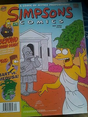 The Simpsons Comics  #79 May 2003 A Comic of Mythic Proportions