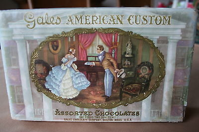 Vintage *gales American Custom* Candy Box - Great Graphics!!