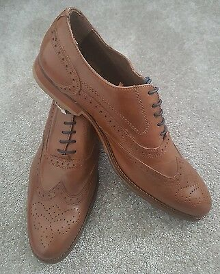 Marks And Spencer Mens Suede Brown Lace Up Shoes