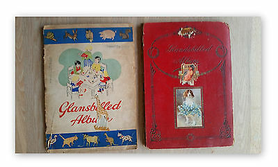 2 Vintage Scrapbooks with lots of old paper scaps