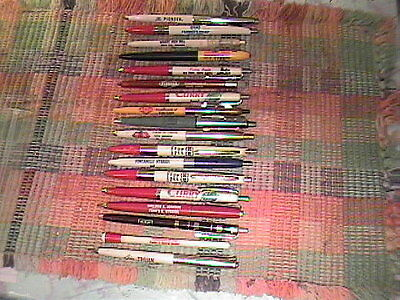 Lot Of 18 Vintage Advertising Feed And Seed Ball Point Pens !!!
