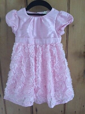 Mothercare Pink Dress Christening Bridesmaid Party Wedding 12-18 Months BNWT