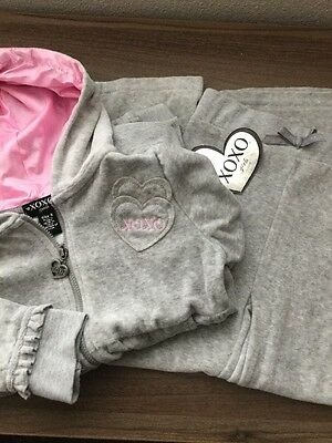 NWT Girls Gray And Pink 2-Piece Set Jacket And Pants XOXO Size 6