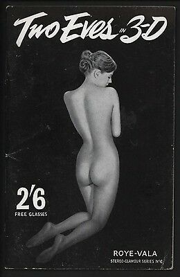 TWO-EVES IN 3-D 1950s EROTICA BOOKLET COMPLETE WITH GLASSES