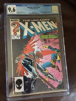 Uncanny X-Men #201 (1986) Marvel CGC 9.6 White 1st Cable As Baby Nathan
